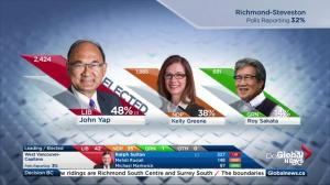 BC Election: Liberals surge in early returns, lock down several seats
